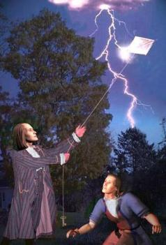 Ben Franklin's discovery of electricity